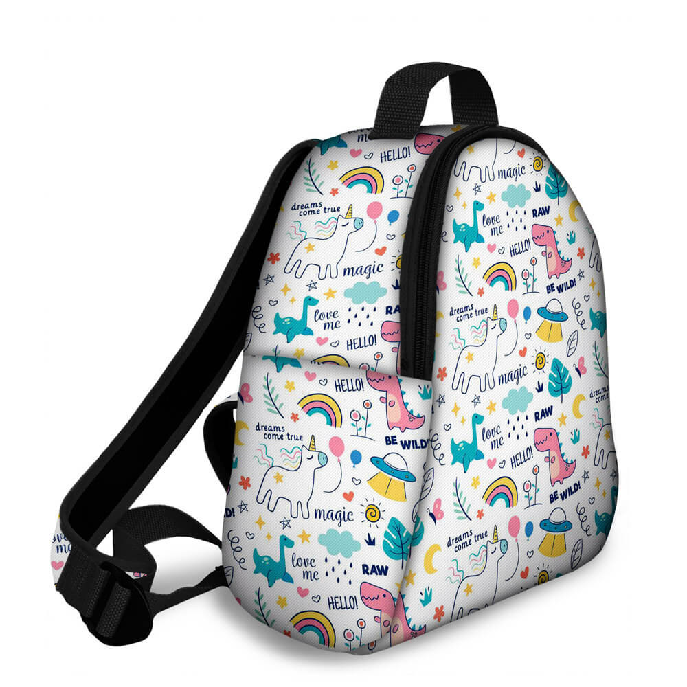 Kit Escolar Magic Unicorn - Mochila + Marmitinha + Estojo