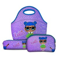 Kit Escolar Lollis Teachers Pet - Lancheira + Necessaire + Estojo