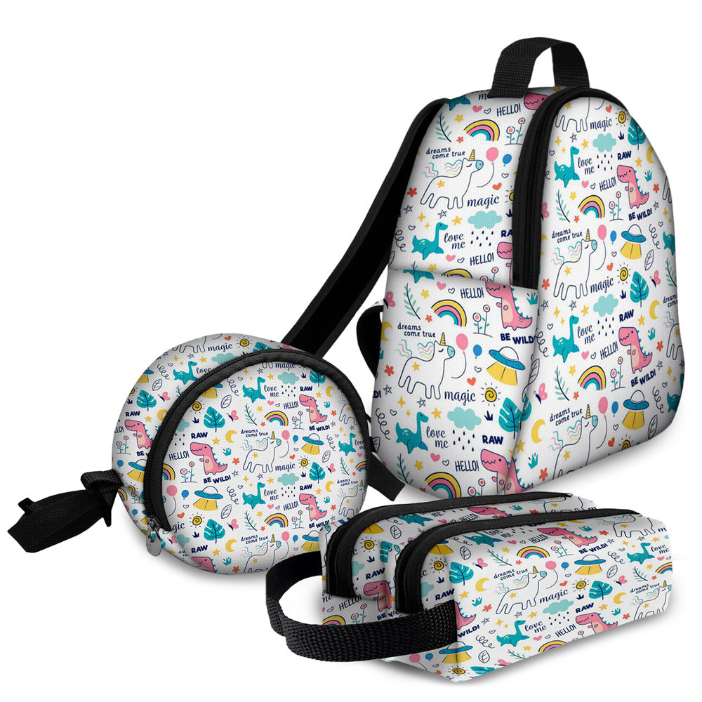 Kit Escolar Magic Unicorn - Mochila + Frasqueira + Estojo