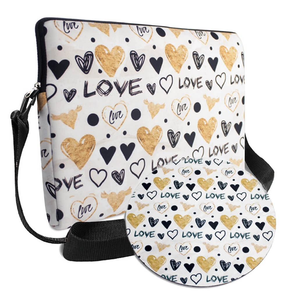 Kit Office 1 Tritengo em Neoprene - Love