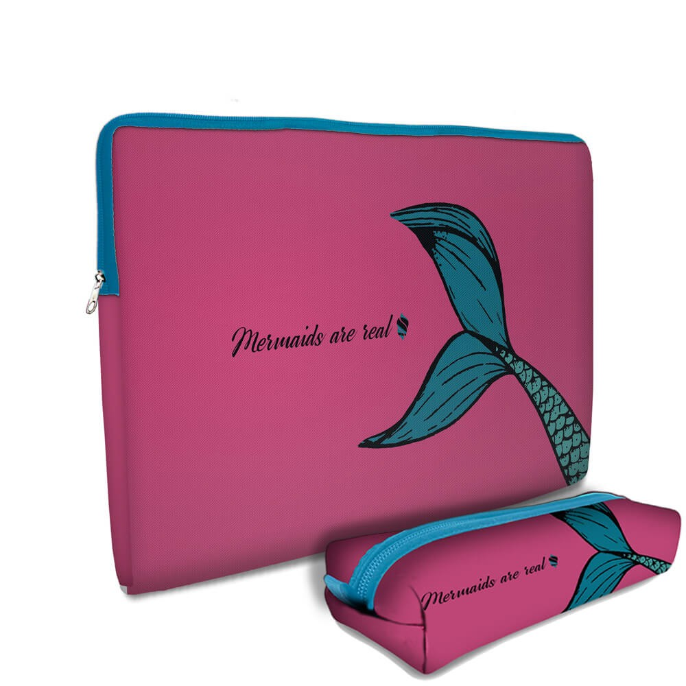 Kit Universitário Cases em Neoprene - Mermaid Simple